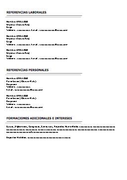 Modelo 32 Cv Plantillas Curriculum Pinterest