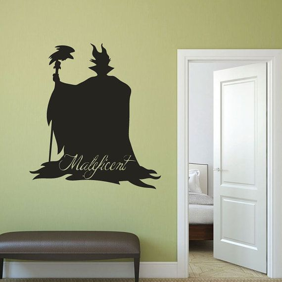 Maleficent - Disney Villain Vinyl Wall Art, Halloween Decor ...
