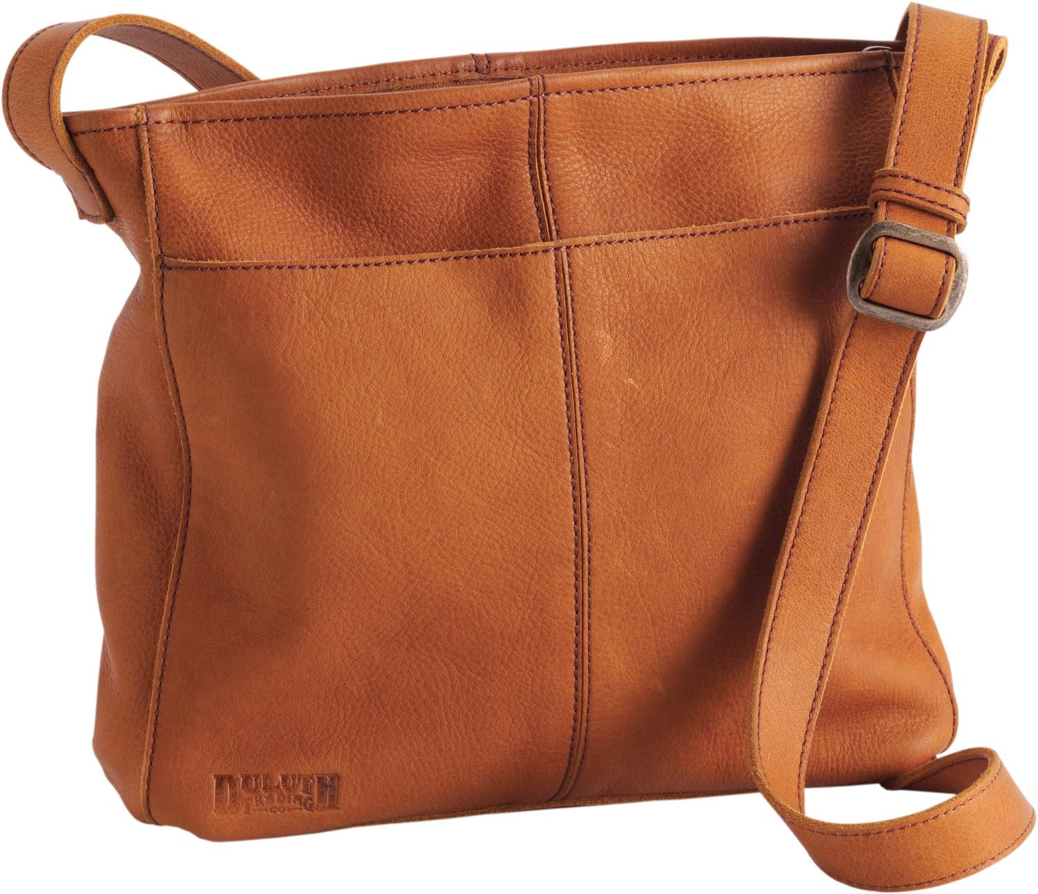 The Womens Lifetime Leather Medium Sling Bag is big enough to hold ...