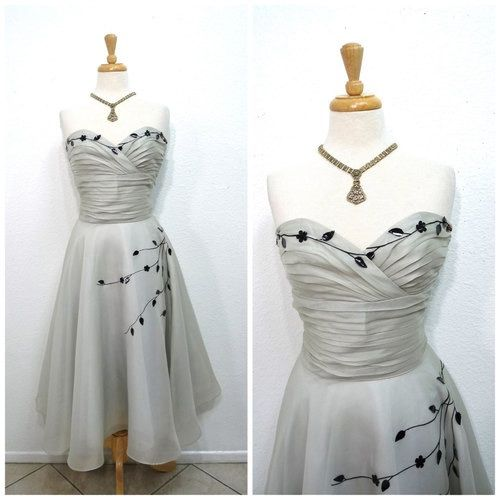 Image via We Heart It https://weheartit.com/entry/146945689 #party #PinUp #Prom #silk #pastelgrey.1950sdress
