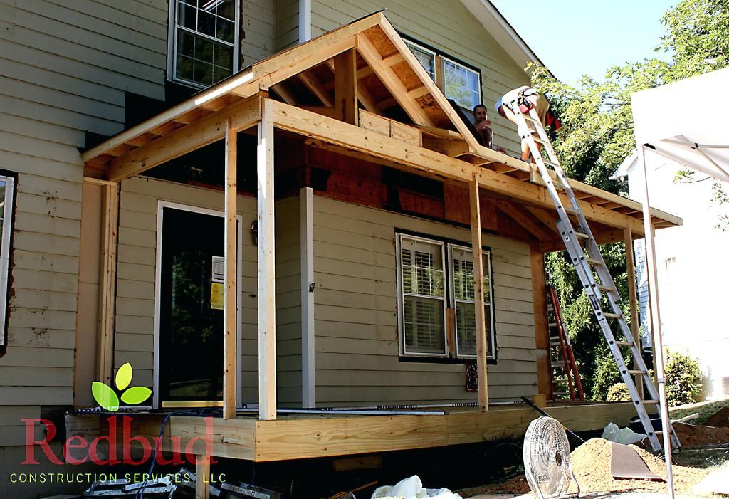 Gable Front Porch Roof Line At By Construction Services