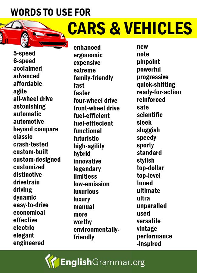 vehicle words - Parfu kaptanband co