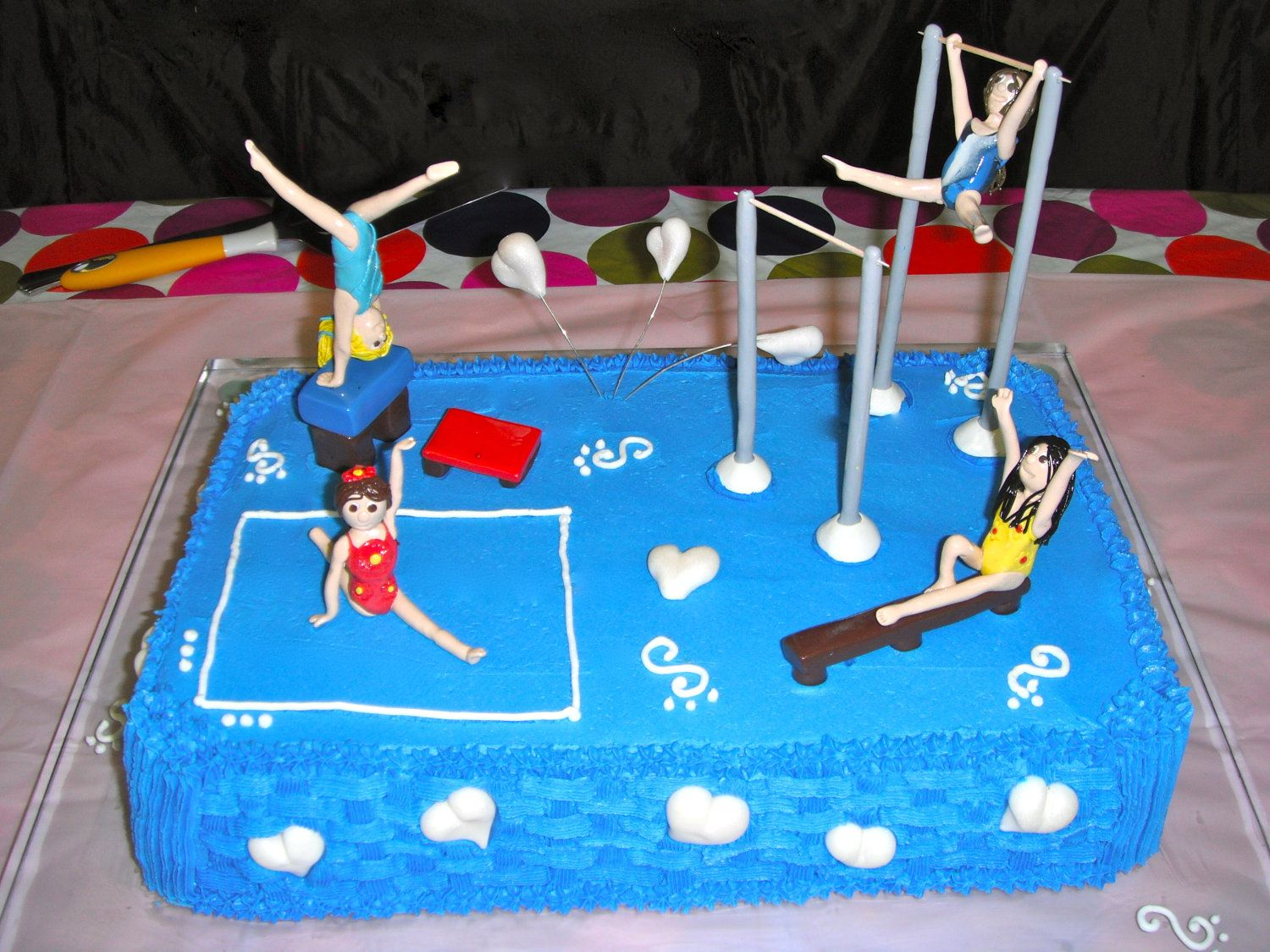Custom Cake Topper Gymnastic Girls With Equipment By Partyartist 3999