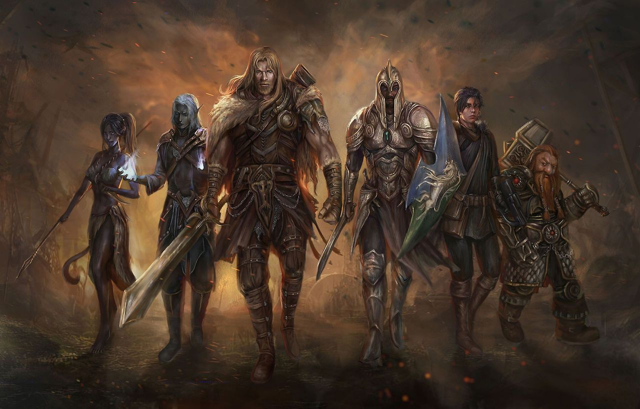 Party of 6 underdark RPG adventuring party (152) | Fantasy artwork,  Dungeons and dragons classes, Character art