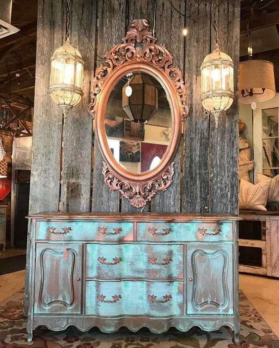 Stunning Metal Effects Patina on Sideboard by Marcotte\'s Design ...