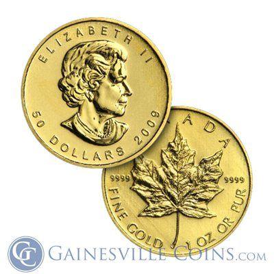 1 Oz Canadian Gold Maple Leafs Random Dates Gainesville Coins Canadian Maple Leaf Gold Coins Coins