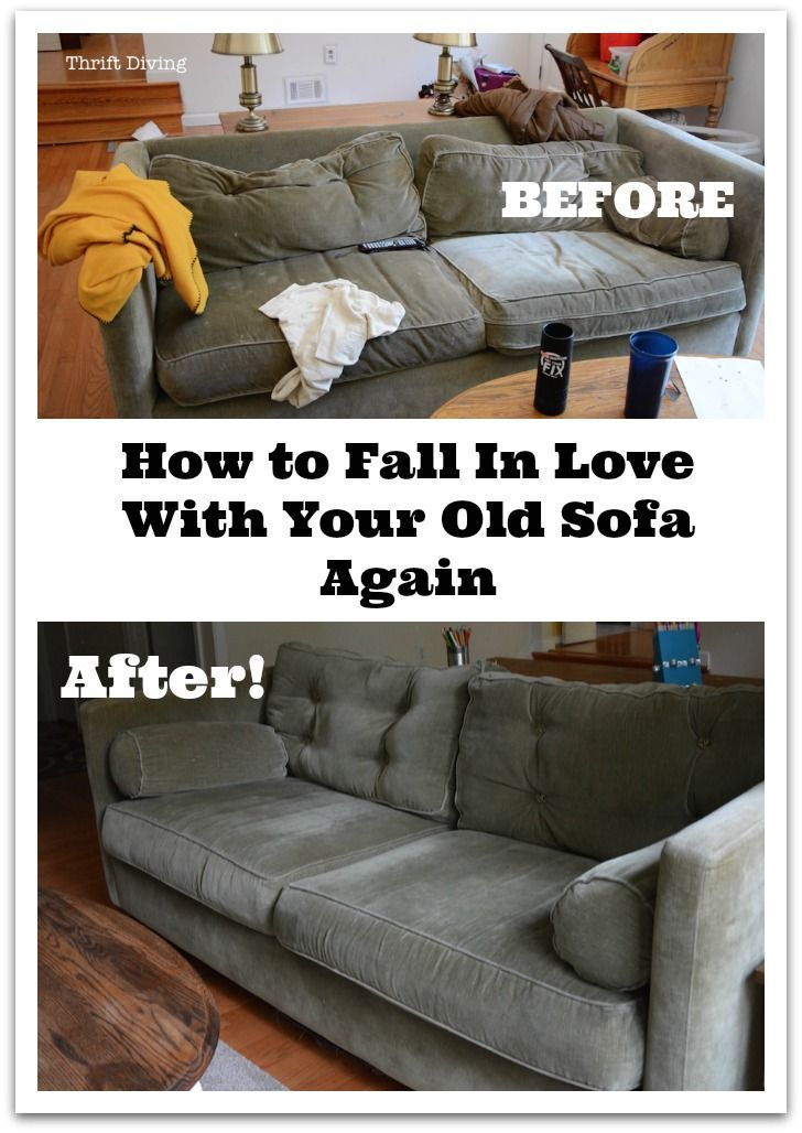 How To Fall In Love With Your Old Sofa Again   Follow These Tips To  Transform Your Old Worn Sofa Without Having To Buy A New One! #ad