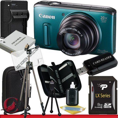 Canon Powershot Sx260 Hs Digital Camera Green 8gb Package 4 By Canon 304 99 Package Contents 1 Canon Powers Memory Card Reader Digital Camera Powershot