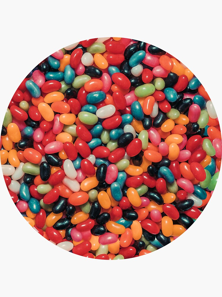 Vintage Jelly Bean Real Candy Pattern Sticker By Patternsoup Jelly Beans Candy Jelly