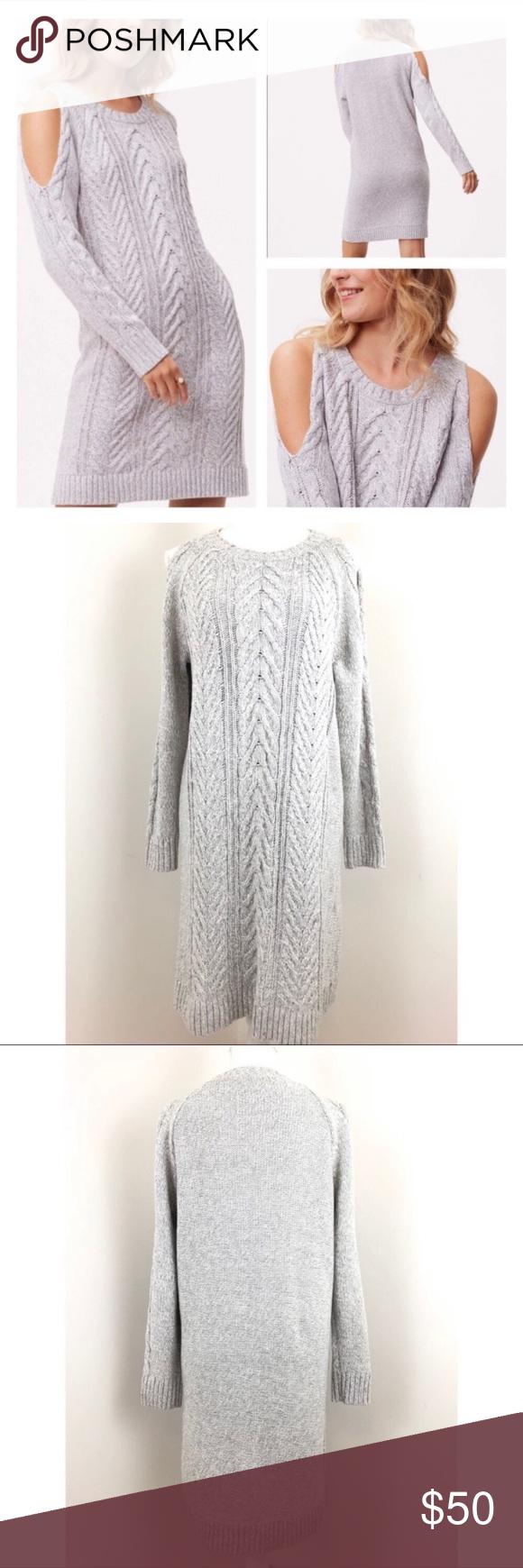 Loft Cable Cold Shoulder Sweater Dress G158 Cold Shoulder Sweater Dress Sweater Dress Long Sweater Dress