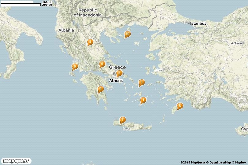 Map of Tourist Attractions In Greece Grece Pinterest 10 top