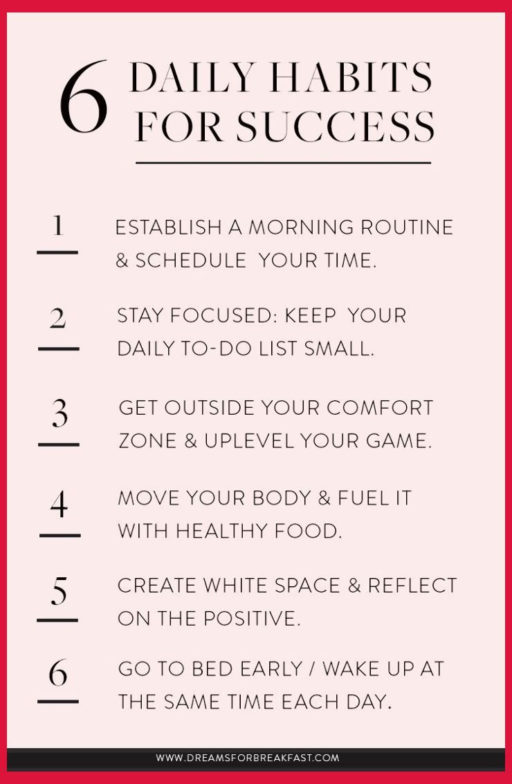 8 Daily Habits for Success   www.dreamsforbrea...   Productivity ...