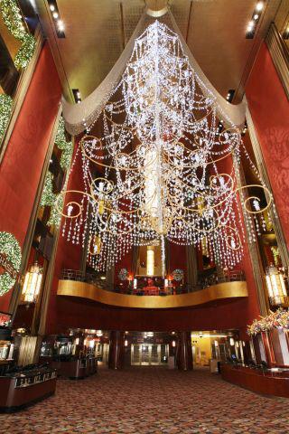 Christmas chandelier inside radio city music hall new york city christmas chandelier inside radio city music hall new york city new york aloadofball Gallery