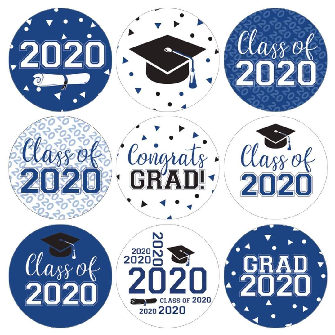 Class of 2020 Graduation Envelope Sticker Seals for your Grad Announcements 10