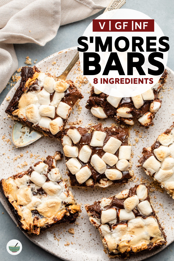 Gooey S'mores Bars | Vegan & Gluten-Free - From My Bowl