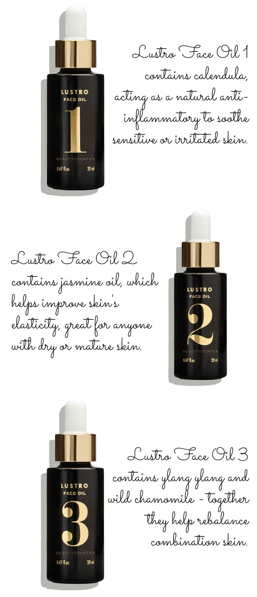 Beautycounter Incorporate A Lustro Face Oil Into Your Routine With Three Unique Scents Each One Promote Organic Skin Care Organic Skin Cream Beautycounter