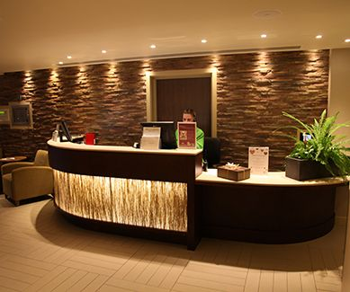 energy efficient led lighting is a beautiful choice for your green business save spa reception areacurved reception deskhotel - Hotel Reception Desk Design
