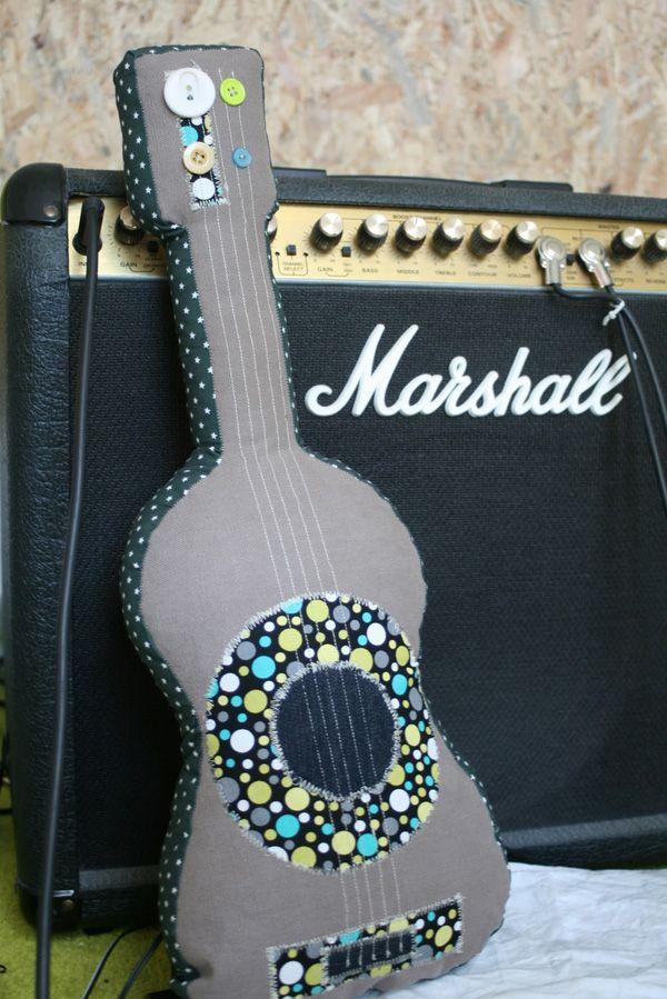 Plush guitar -- cute idea! | Crafty crafts | Pinterest | Plush ...