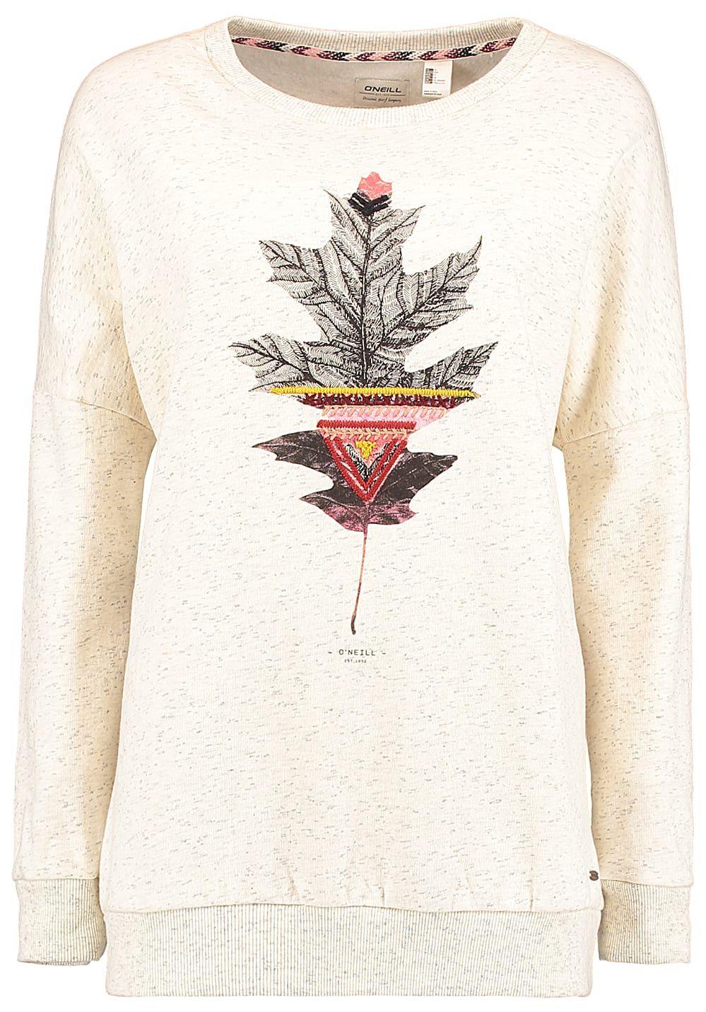 41969ce8716d O Neill Peaceful Pines. O Neill Peaceful Pines - Sweatshirt für Damen - Weiß  - Planet Sports