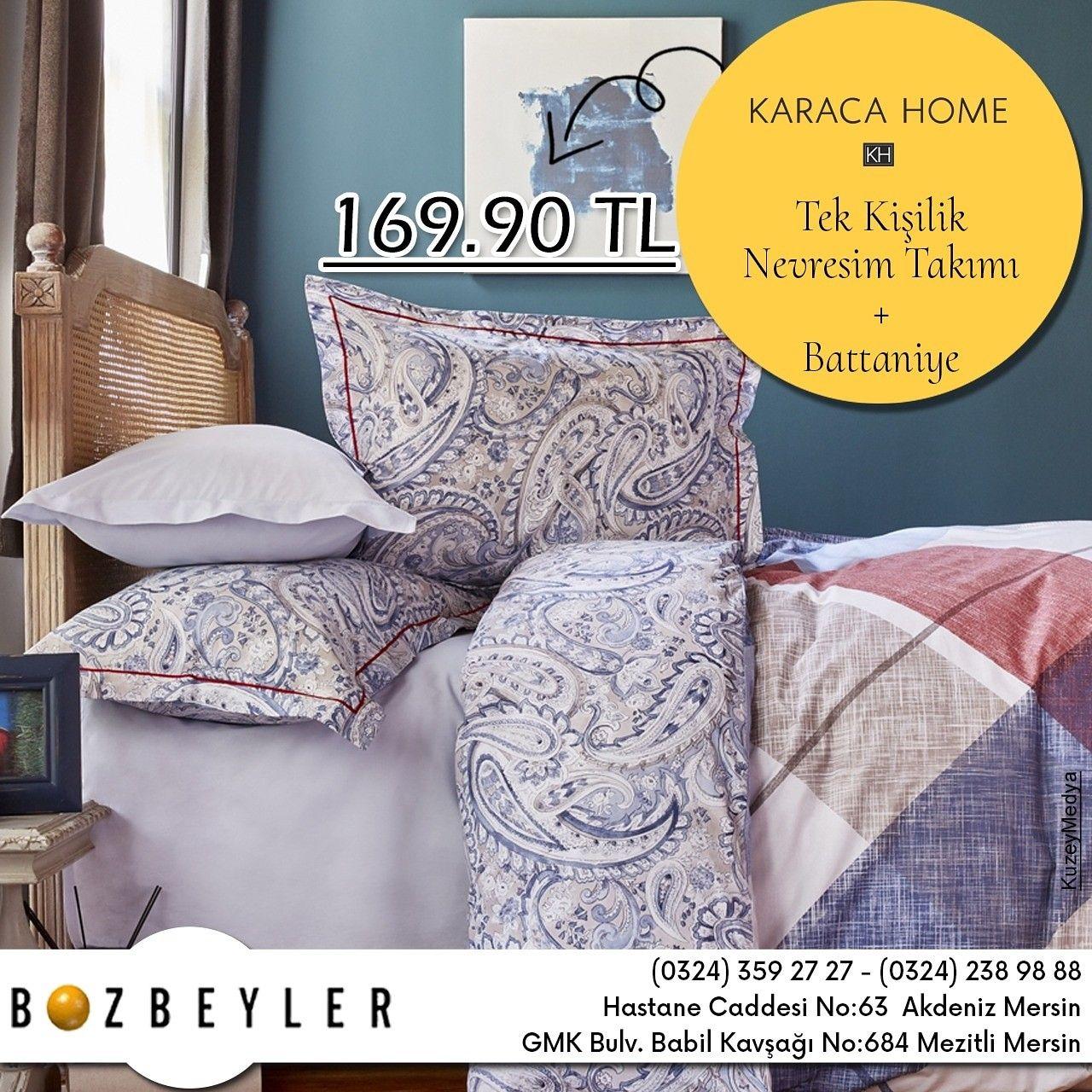 Karaca Home Tek Kisilik Nevresim Takimi Ve Battaniye Uygun Fiyatlari Ile Bozbeyler Magazasinda Bozbeyler Mersin Karacahome Beautiful Bedding Bed Bed Pillows