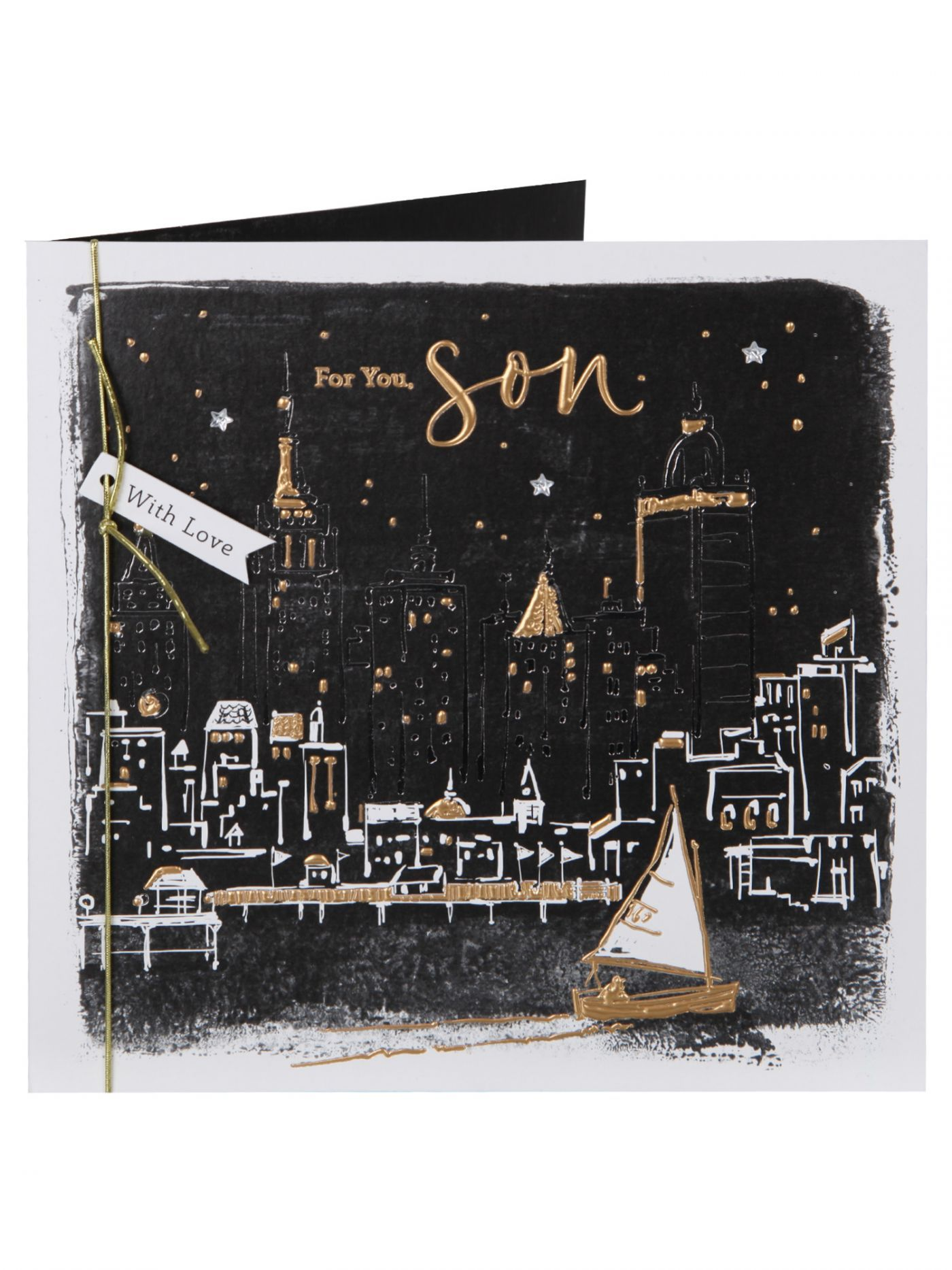 Cityscape At Night Son Birthday Card Cards Clintons – Birthday Cards Clintons