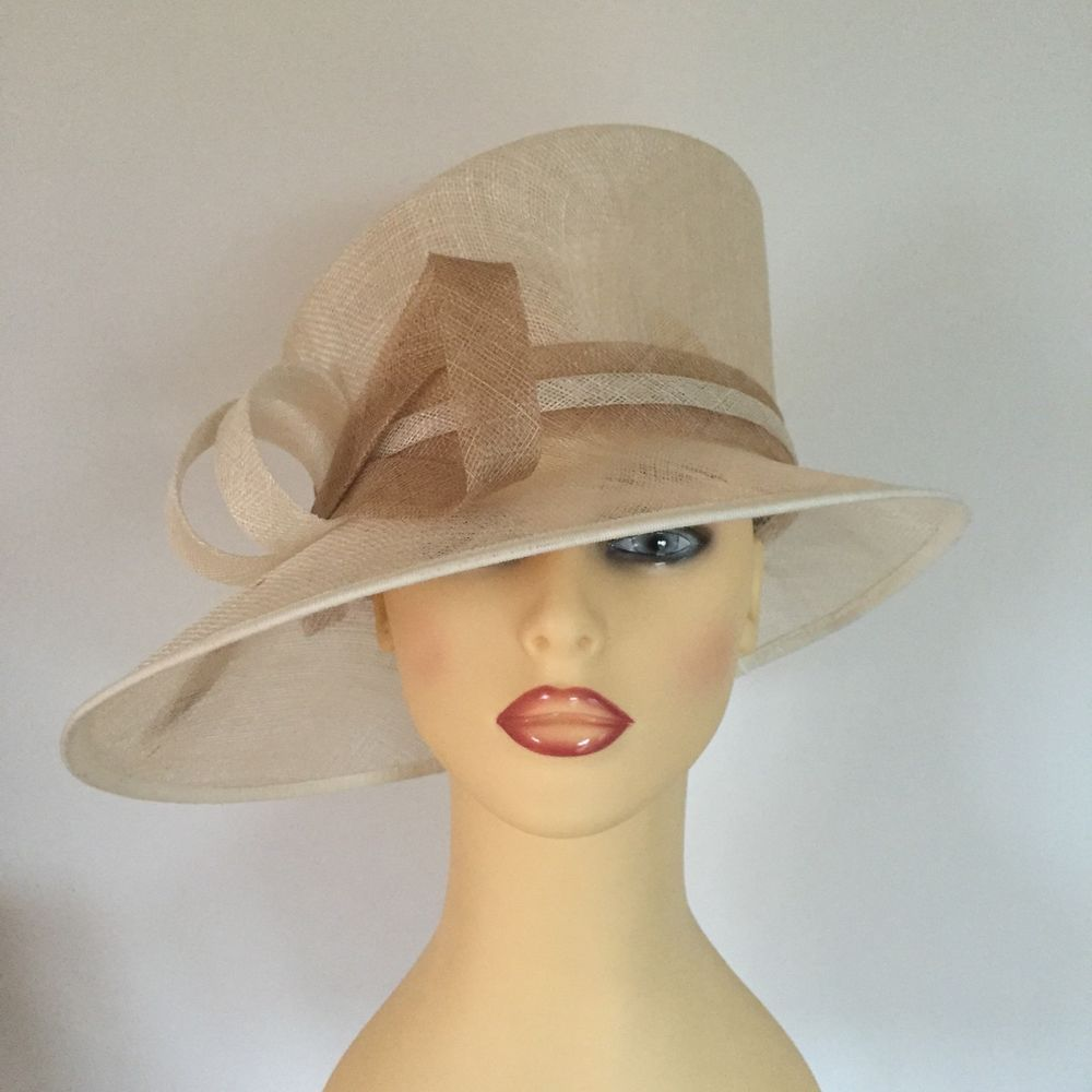 Ladies Occasion Wedding Races Mother Bride Hat Ivory Cream by Debut ... 245cd336473