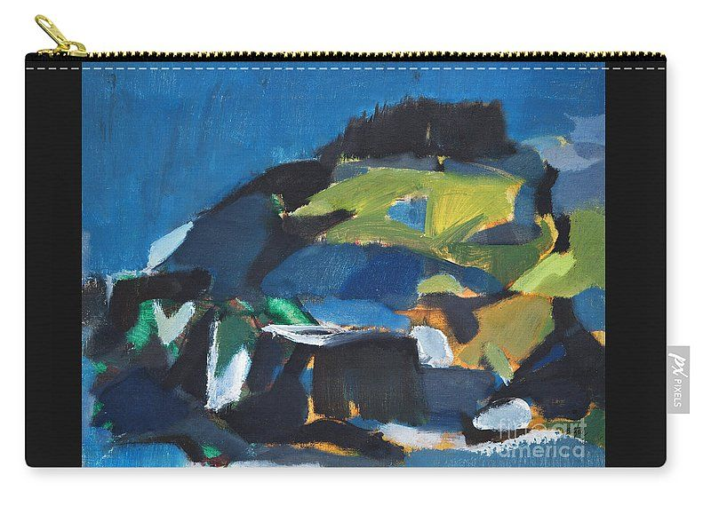 """North East Coastal Island Atlantic Ocean Carry-All Pouch by Expressionistart studio Priscilla Batzell.  Our pouches are great.  They're availabe in sizes from 6"""" x 5"""" up to 12.5"""" x 8.5"""".  Each pouch is printed on both sides (same image)."""