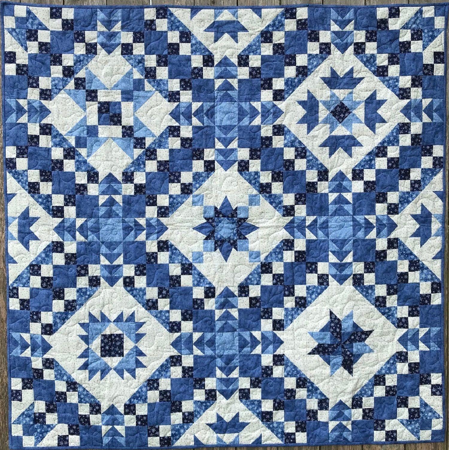 Walking on Sunshine /& Midnight Blue PRINTED Quilt Patterns Applique Quilts Patchwork Quilts Modern Quilt Quilt Patterns