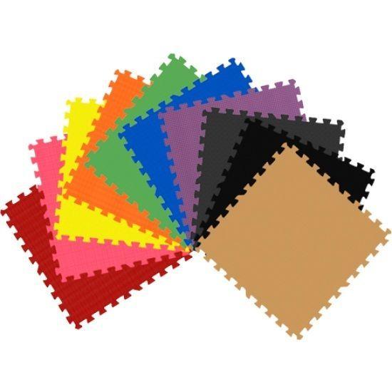72 Sq Ft Color Foam Interlocking Exercise Protective Tile Flooring Gym Floor Mat Getrung Foam Mat Flooring Foam Flooring Interlocking Mats