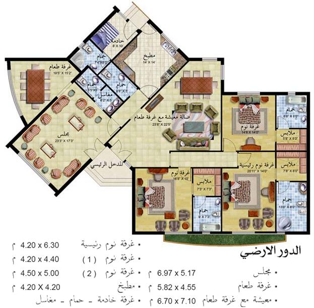 تصاميم منازل Architectural Design House Plans Architectural House Plans New House Plans
