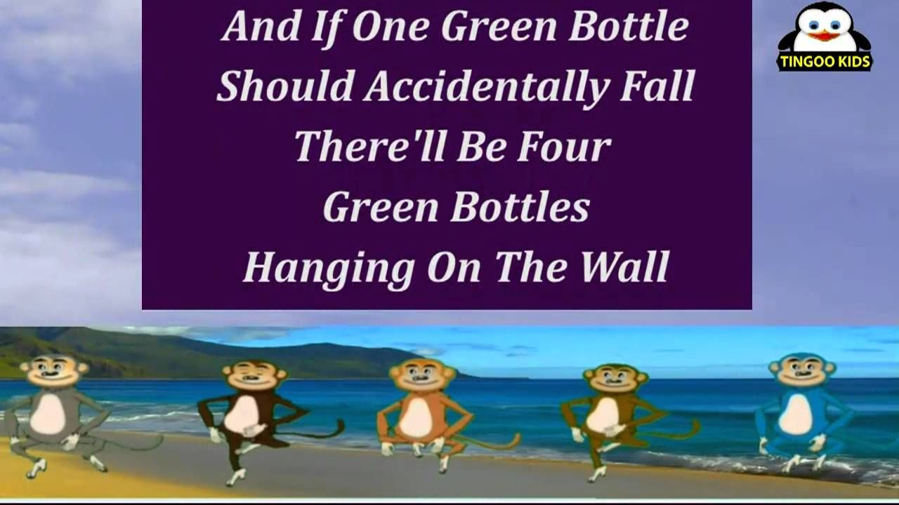 Ten Green Bottles Karaoke Version Kids Songs Nursery Rhymes Songs