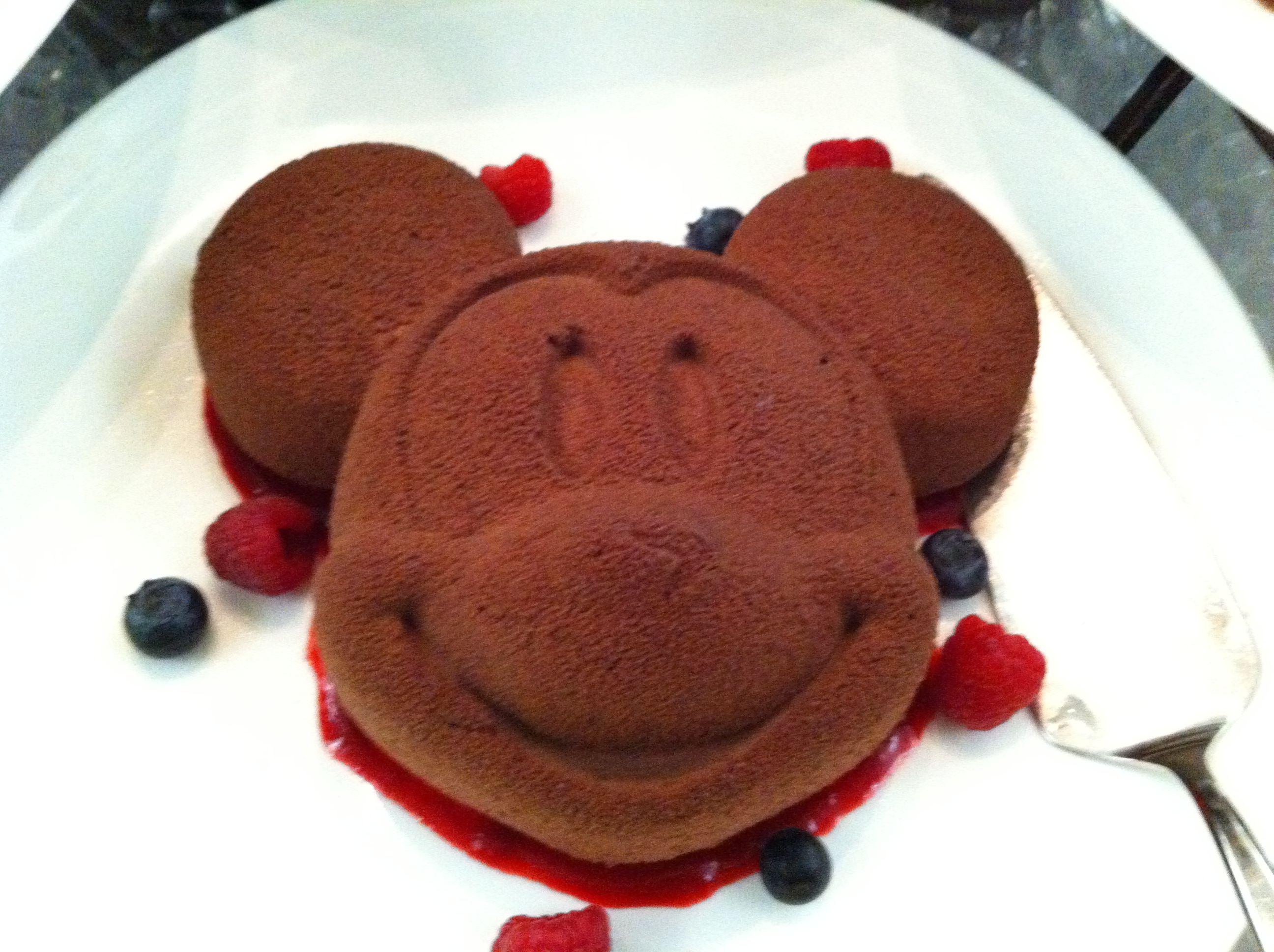 Mickey Mouse cake at the Enchanted Garden Restaurant Hong Kong