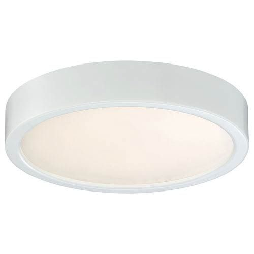 George Kovacs P841 044 L Led Eight In Flush Mount In White Contemporary Modern Bellacor In 2020 Flush Mount Lighting Flush Lighting Ceiling Mounted Lights