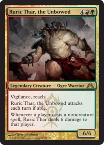 mtg RED GREEN GRUUL DECK ruric thar clan defiance Magic the Gathering rare cards Magic the