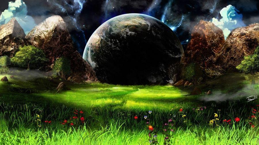 Gory Priroda Sad Zemlya Fantastika Priroda Fantastika Sad