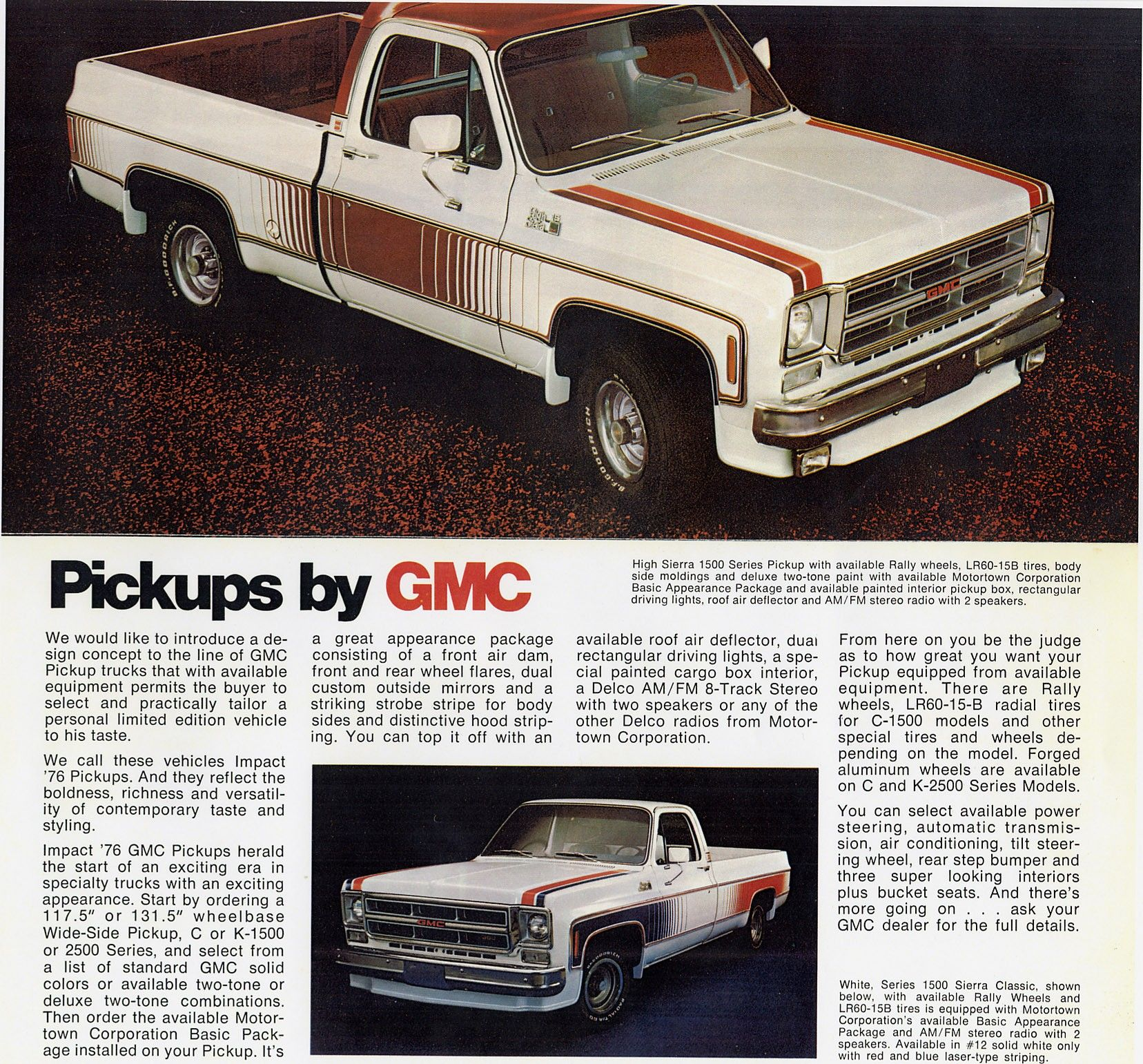 1976 Gmc Impact Speciality Package Trucks Pickup Car Trucks