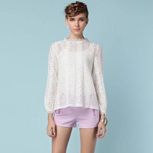 Dos Piezas Floral Ruffle Collar del modelo del cordón de la blusa chaleco