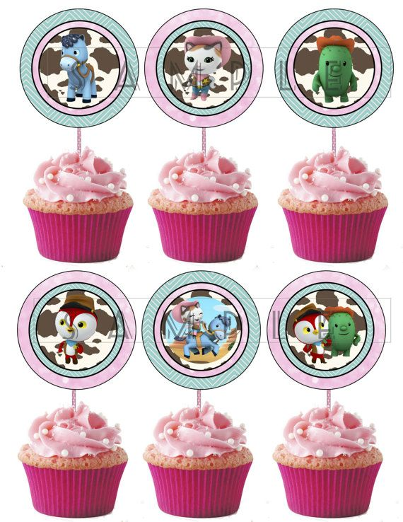 Printable Cupcake Toppers - Sheriff Callie\u0027s Wild West - Disney Jr