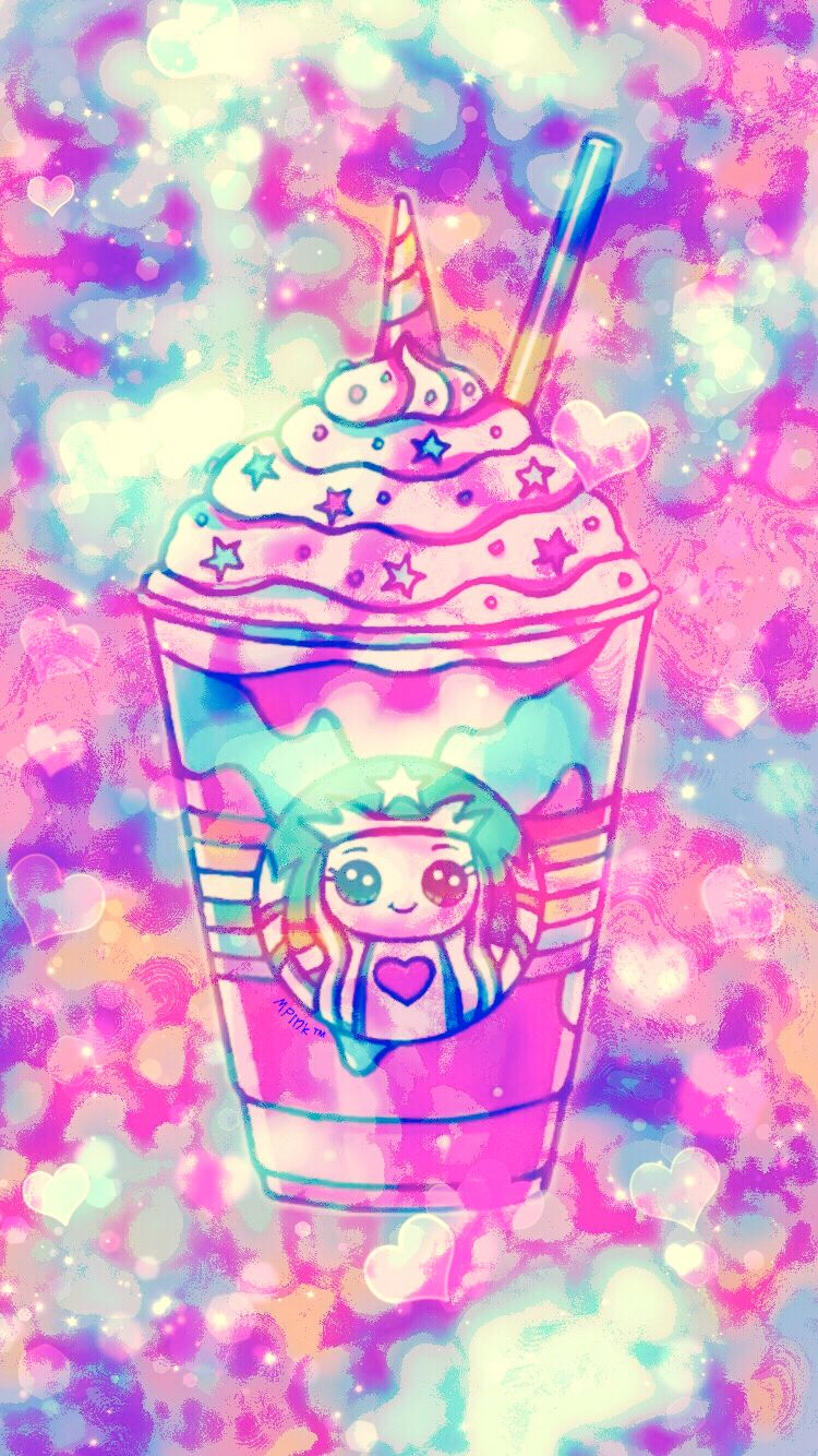 Cute Kawaii Coffee Wallpaper Girly, Cute, Wallpapers for