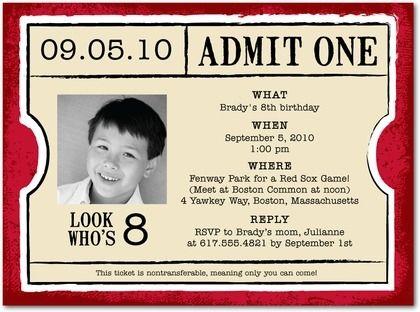 movie ticket invitations