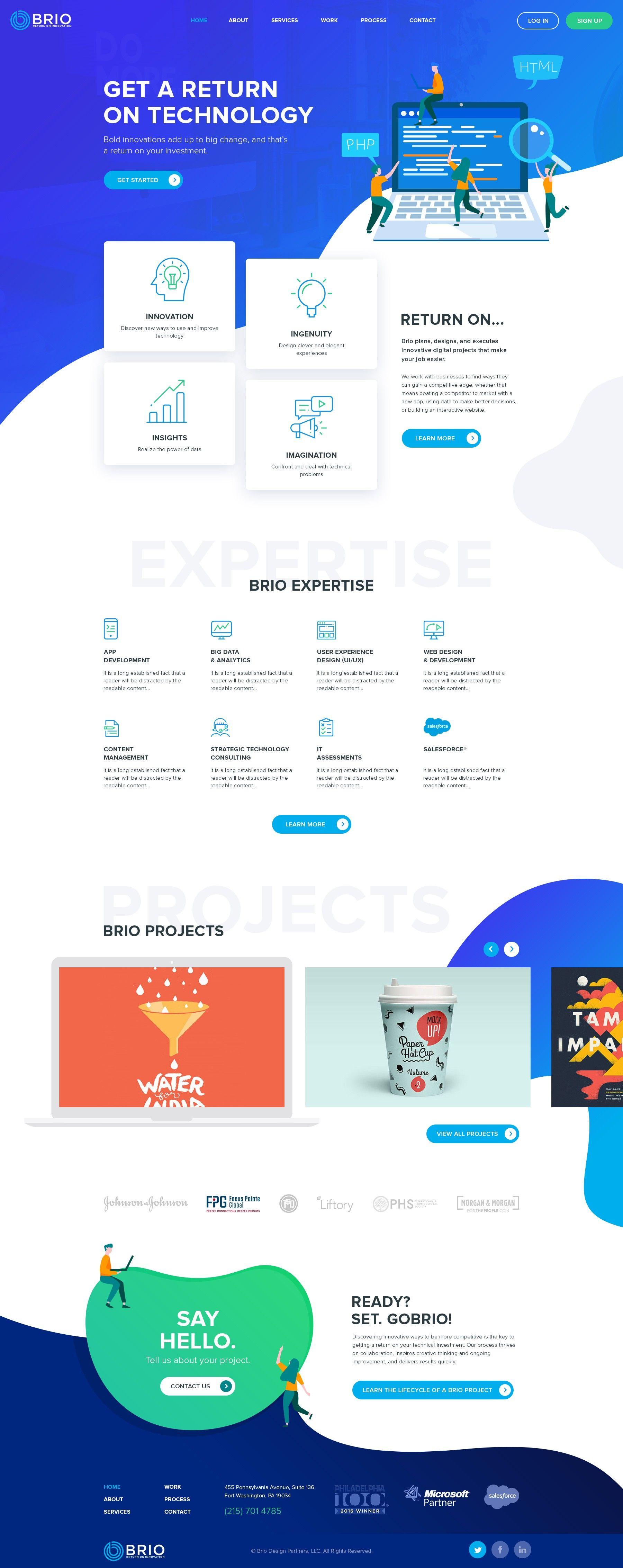 Brio 99designs Corporate Website Design Web Design Web Development Design