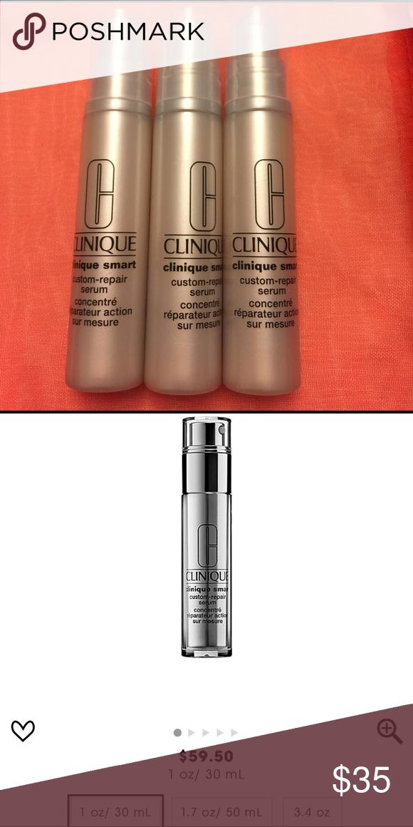 3 x 10 ml Clinique Smart Custom-Repair Serum Brand New never used  3 x 10 ml Clinique Smart Custom-Repair Serum = 1 full size ( 30 ml) Clinique Makeup