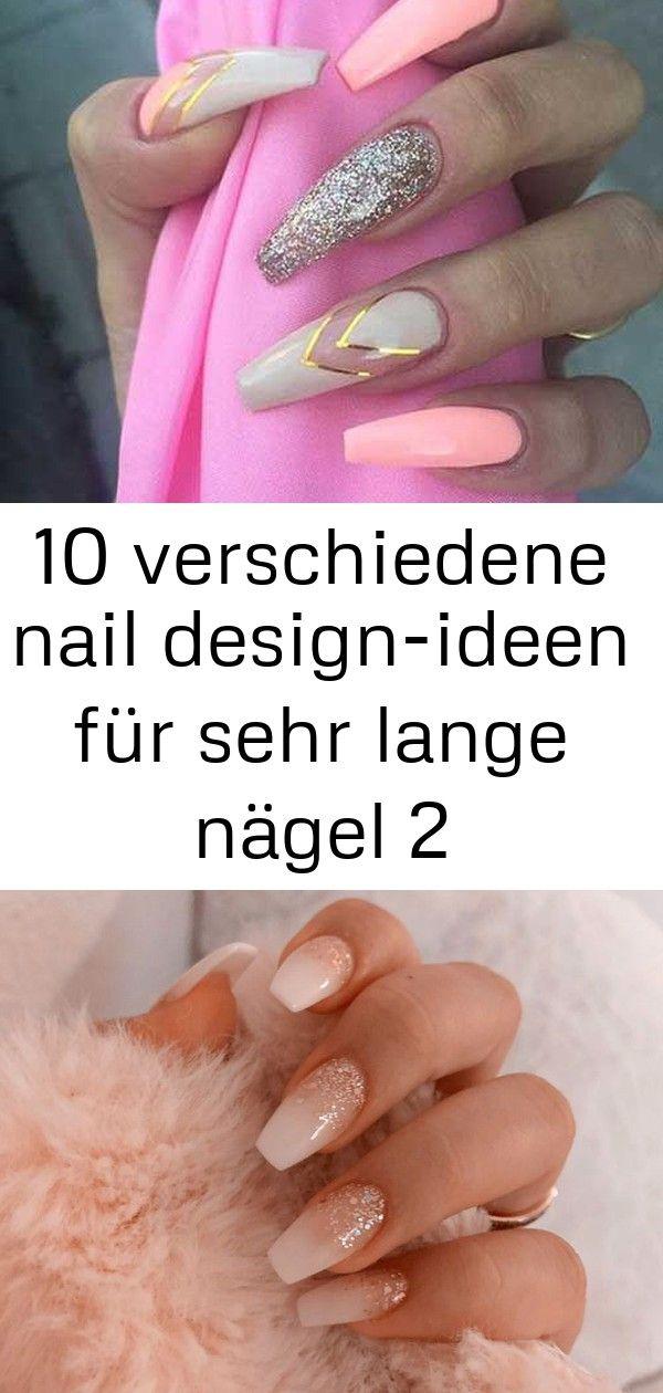10 verschiedene nail design-ideen für sehr lange nägel 2