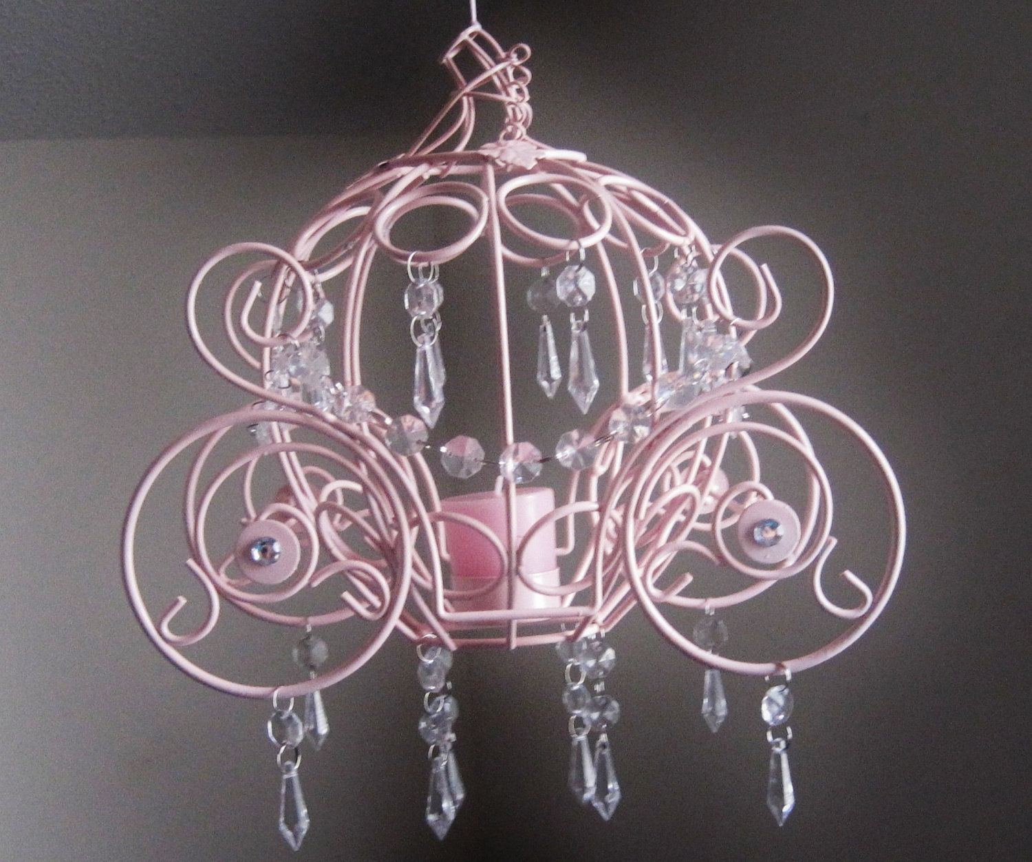 Pottery Barn Carriage Lamp: Cinderella Collection Coach One Candle Hanging Chandelier