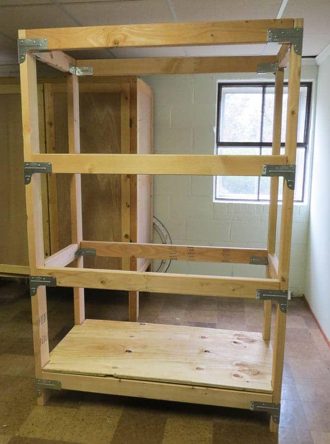 Diy 2x4 Shelving Unit Diy Wood Shelves Shelves Diy Storage Shelves