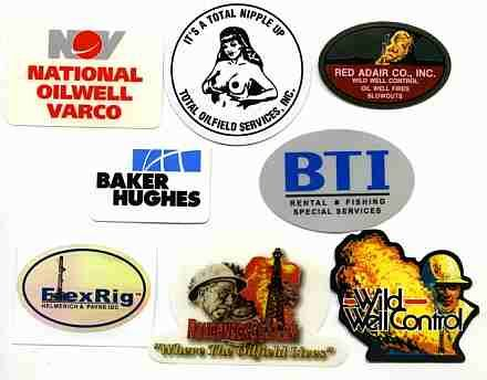 Oilfield Stickers...I've seen the majority of these! Hubby has