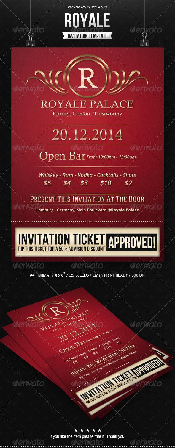 Royale Invitation — Photoshop PSD #vector media #creative invitation ...