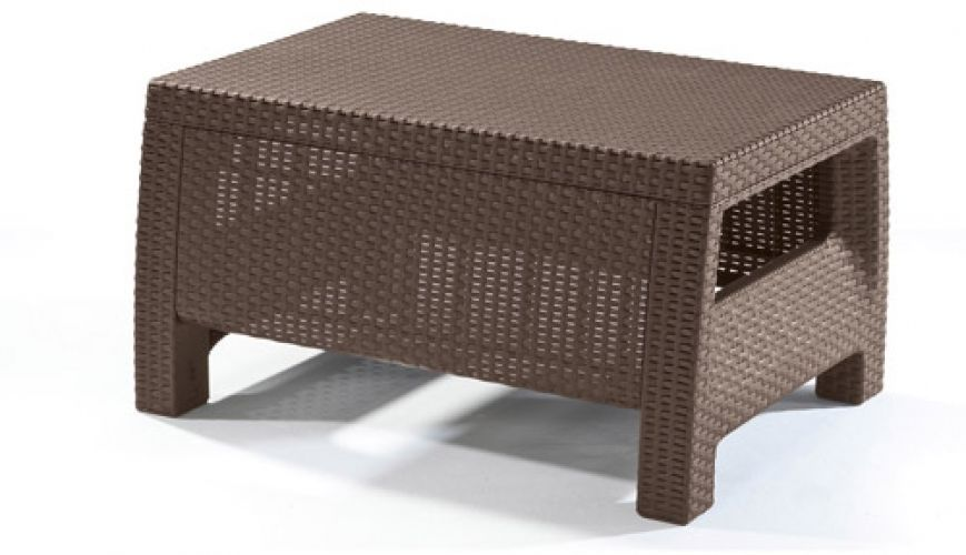 Keter Corfu Resin Coffee Table All Weather Plastic Patio
