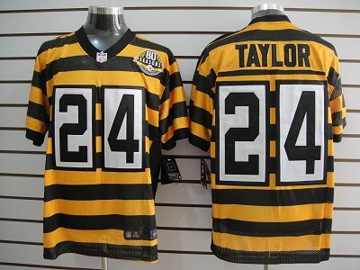 144107cc97c ... Nike Steelers 24 Ike Taylor 80th Anniversary Throwback Mens NFL Elite  Jersey And Falcons. Pittsburgh ...