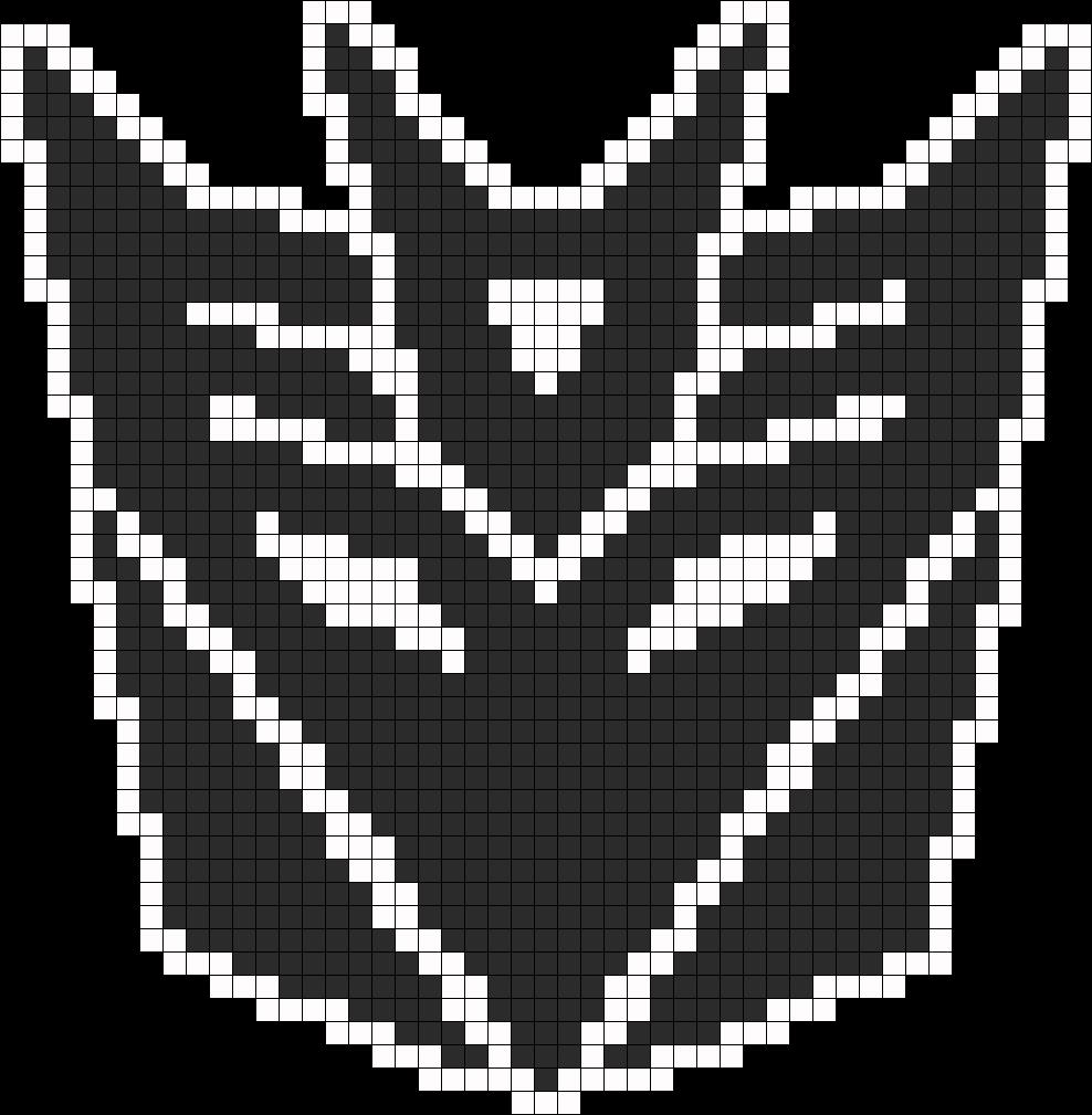 Transformers Decepticon Symbol Perler Bead Pattern Pixel